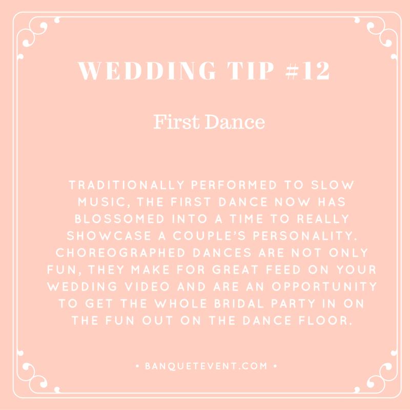 Wedding Tip #12 - First Dance   B&E Lucky in Love Blog