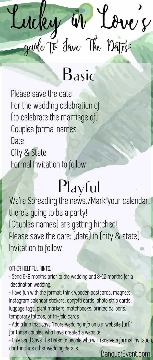 A Guide to Wedding Invitations: Save The Date | Lucky in Love Blog