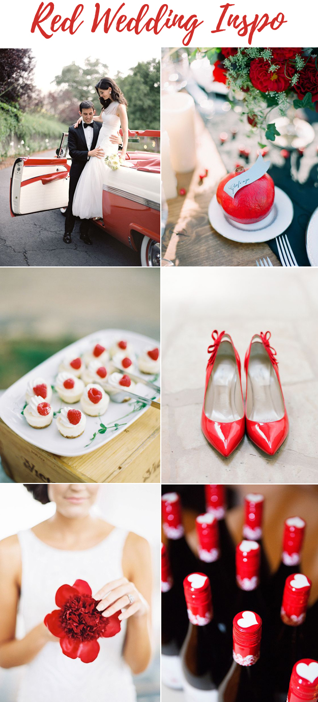 Simply Stunning Red Wedding Inspiration | B&E Lucky in Love Blog