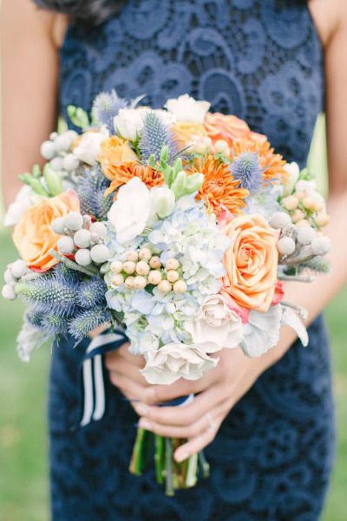 Orange Bridal Bouquets |B&E Lucky in Love Blog