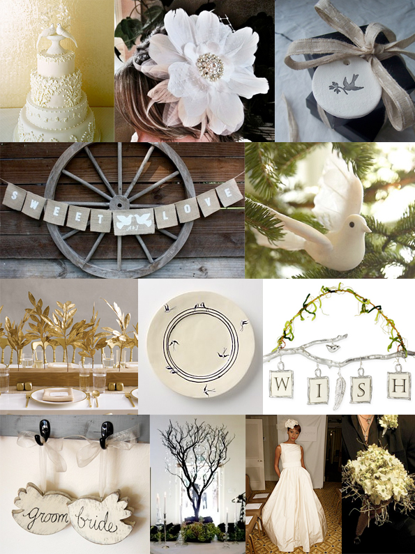 dove and twig wedding theme