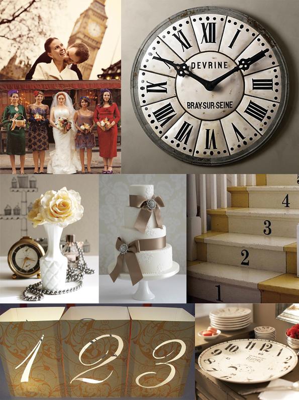 clock themed wedding