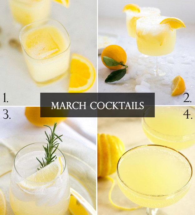 Yummy Yellow Cocktails to Start Your Spring