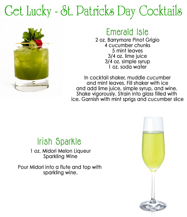 St. Patricks Day Cocktails
