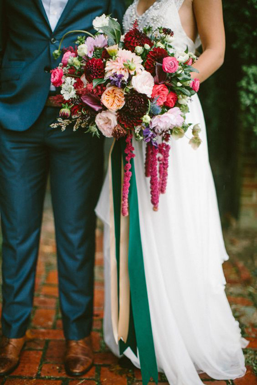 Colorful Boho Jewel Toned Wedding Inspo | B&E Lucky in Love Blog