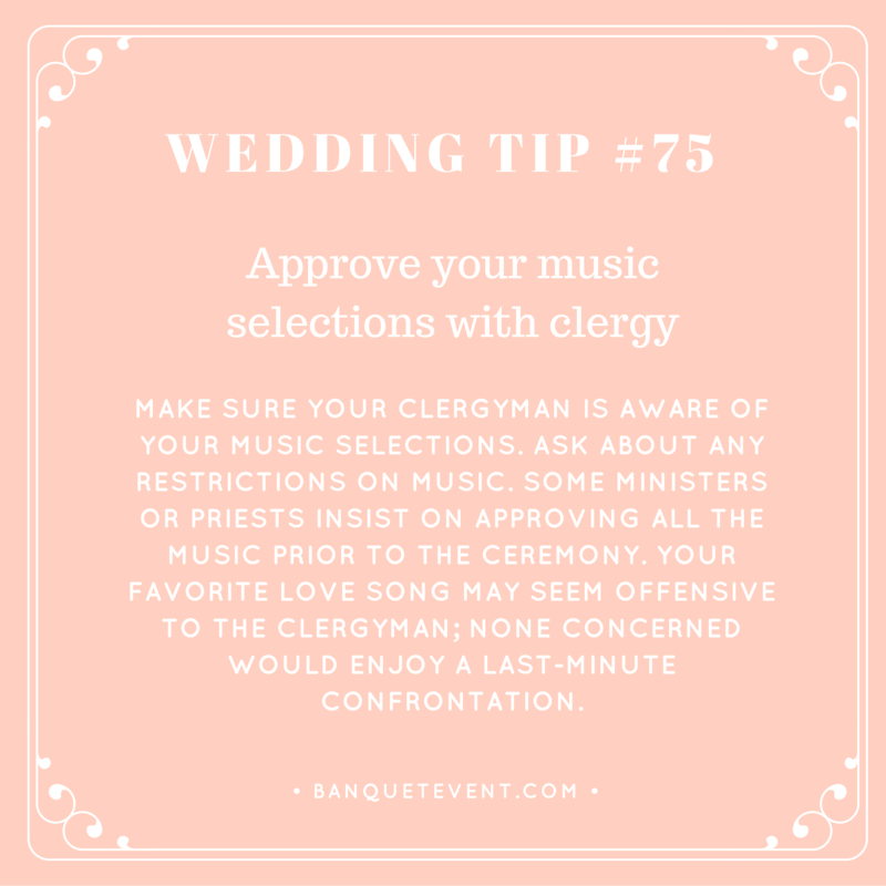 Wedding Tip #75 - Approve Your Music Selections with Clergy