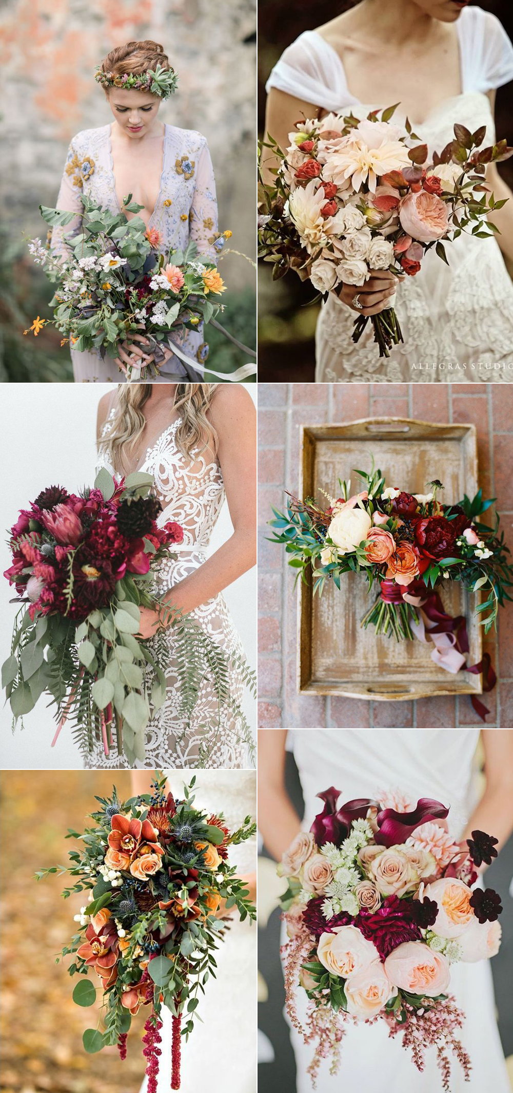 {Image Sources - Top left to right: Featured on  Country Living  - photo by Danielle Coons Photography; Featured on  Wed Book ; Featured on  Country Living  - photo by Miramar Photography; Featured on  Country Living  - photo by Jen Rodriguez Photography; Featured on  Wedding Chicks ; Featured on  Mod Wedding  - photo by  Lauren Peele Photography }