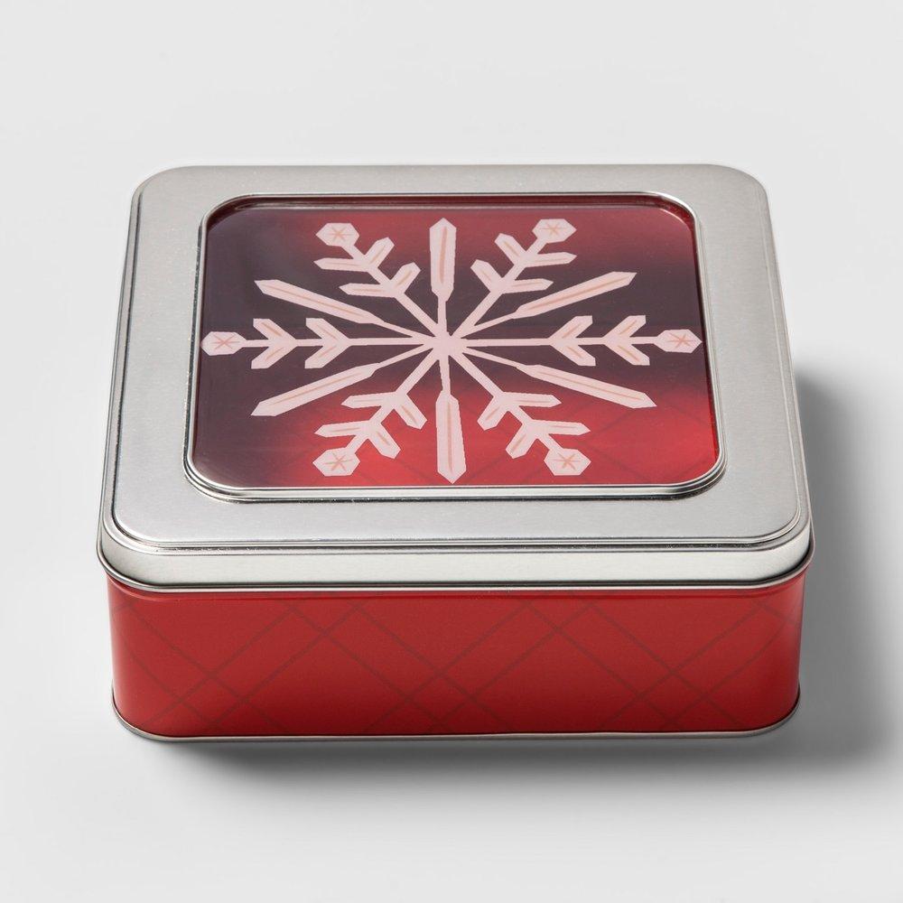 Target Square Food Storage Tin, $5