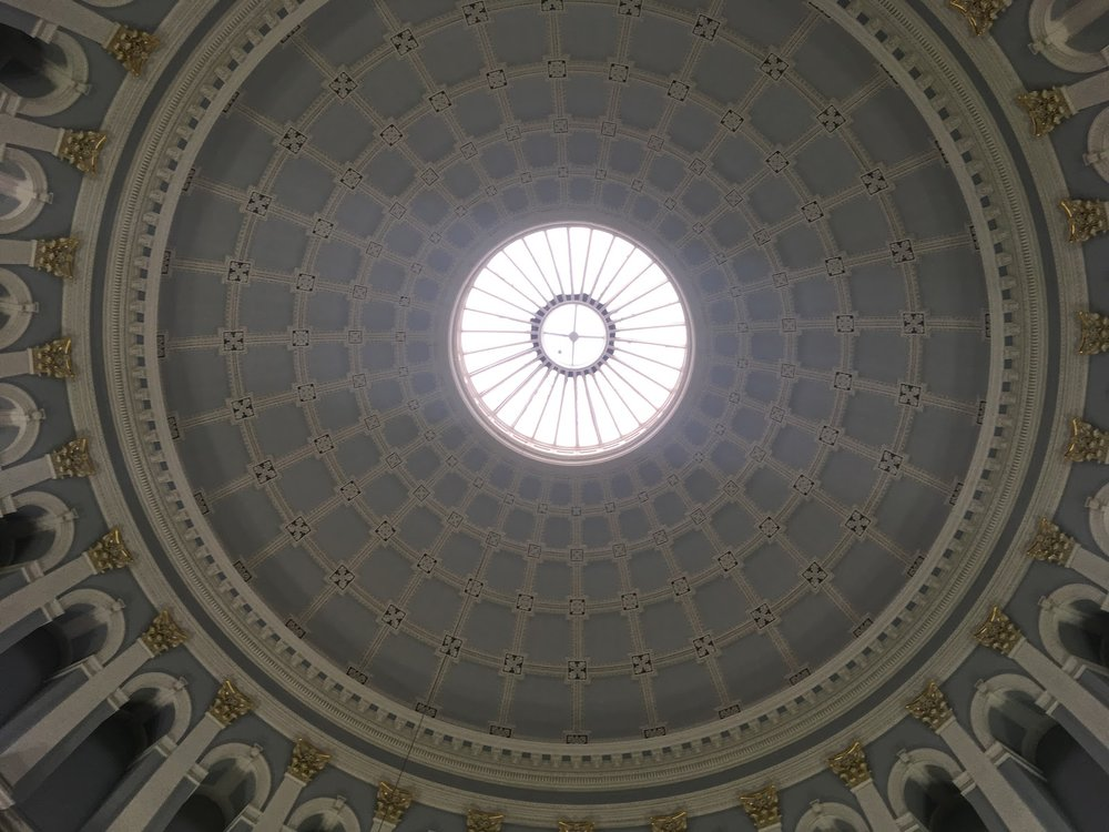 Stunning ceiling in the foyer of the National Museum of History and Archaeology