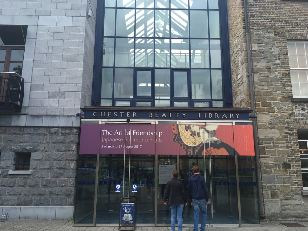 Chester Beatty Library– no photos allowed inside, of course!