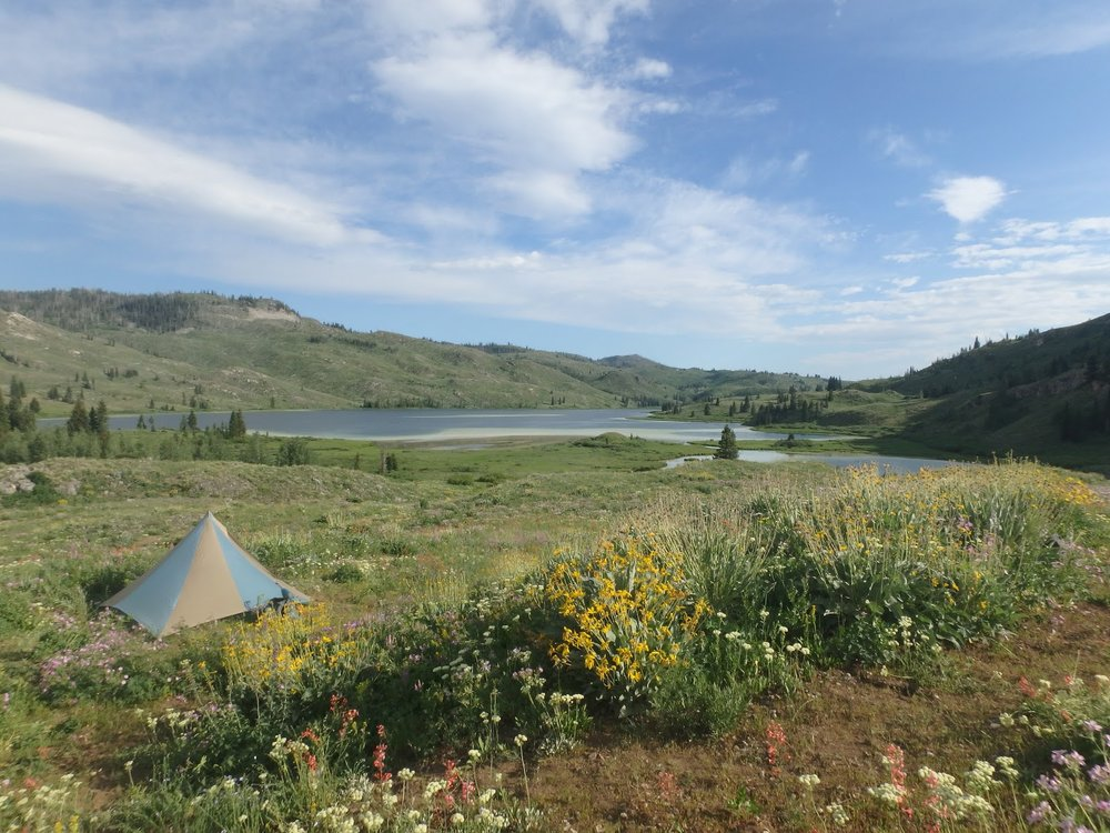 One of our first campsites.