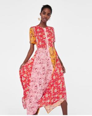 ZARA Patchwork Dress  $70