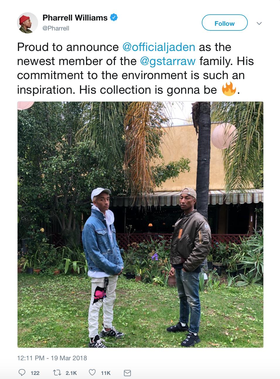 Photo:  Twitter @Pharrell