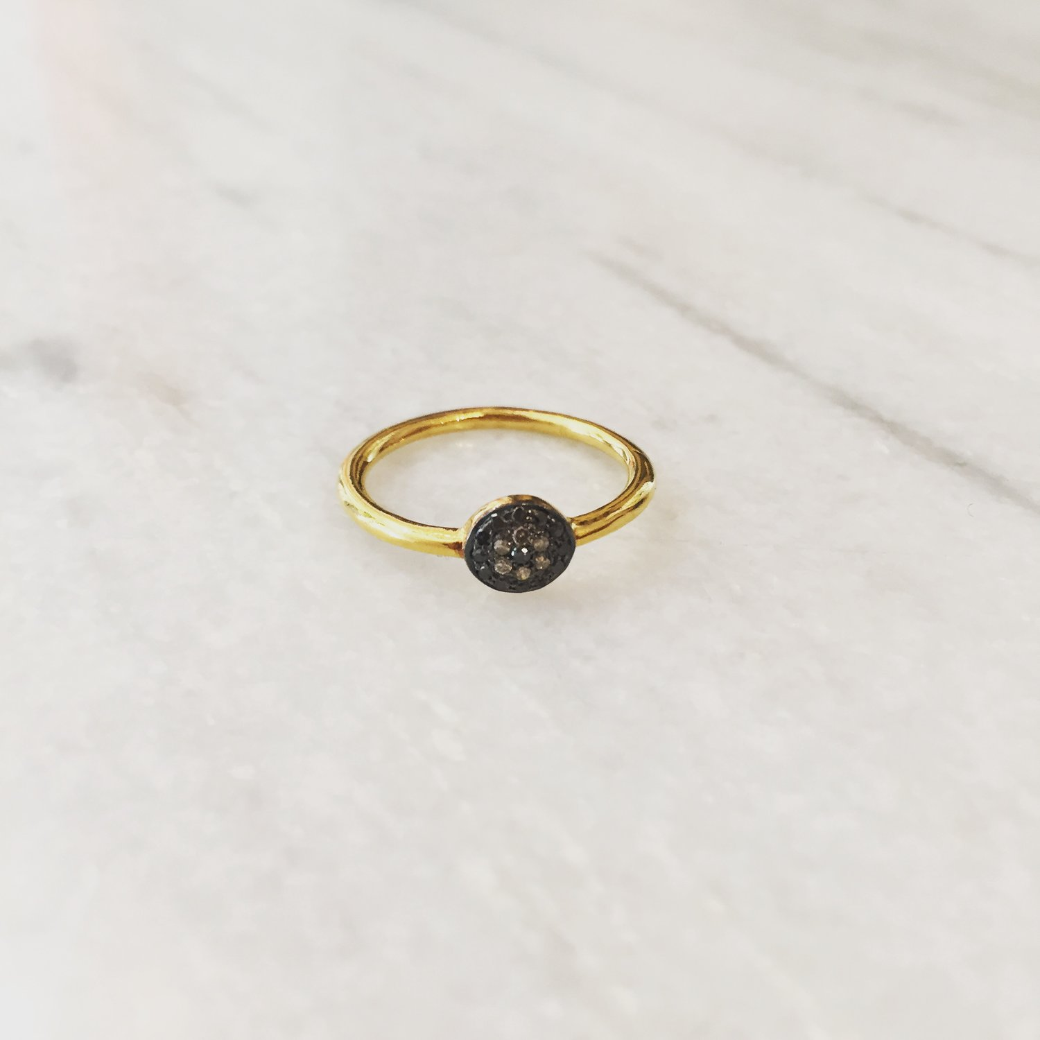 Wild Ring in 24K Gold-Plated Silver and Diamonds 5 OCTOBRE VjNvYspgoW