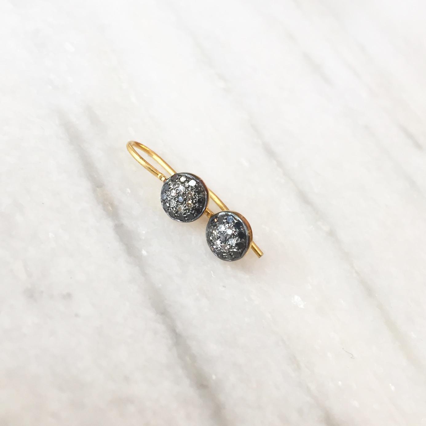 COOKIE earrings | Vermeil & diamonds  Dormeuses COOKIE | Vermeil &  diamants     — Calame Palma