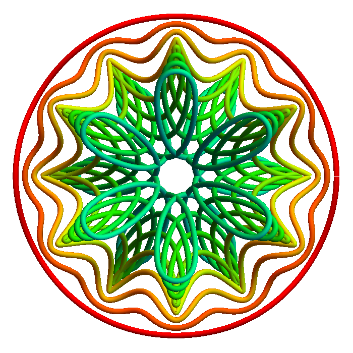 3D star - top view