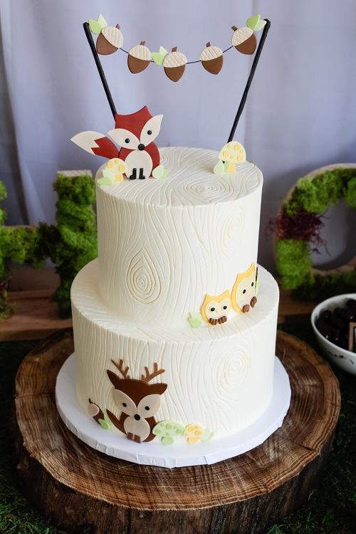 First Birthday Smash Cake Woodland Themed