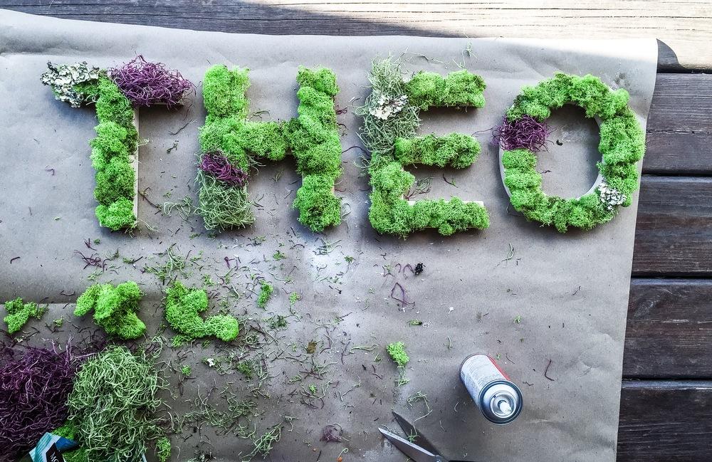 Mossy Name Decor