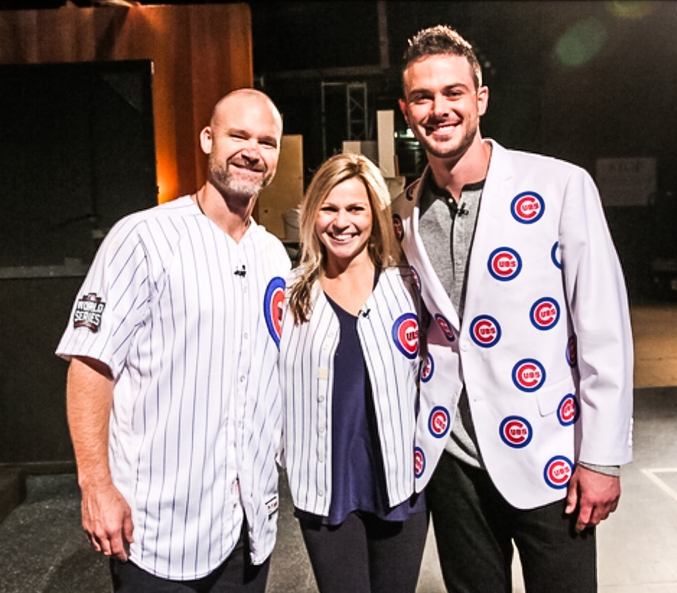 What It's Like To Be On The Ellen Show! Meeting David Ross and Kris Bryant