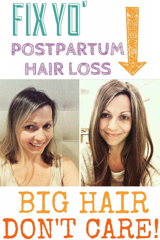 Solutions for postpartum hair loss for postpartum women.
