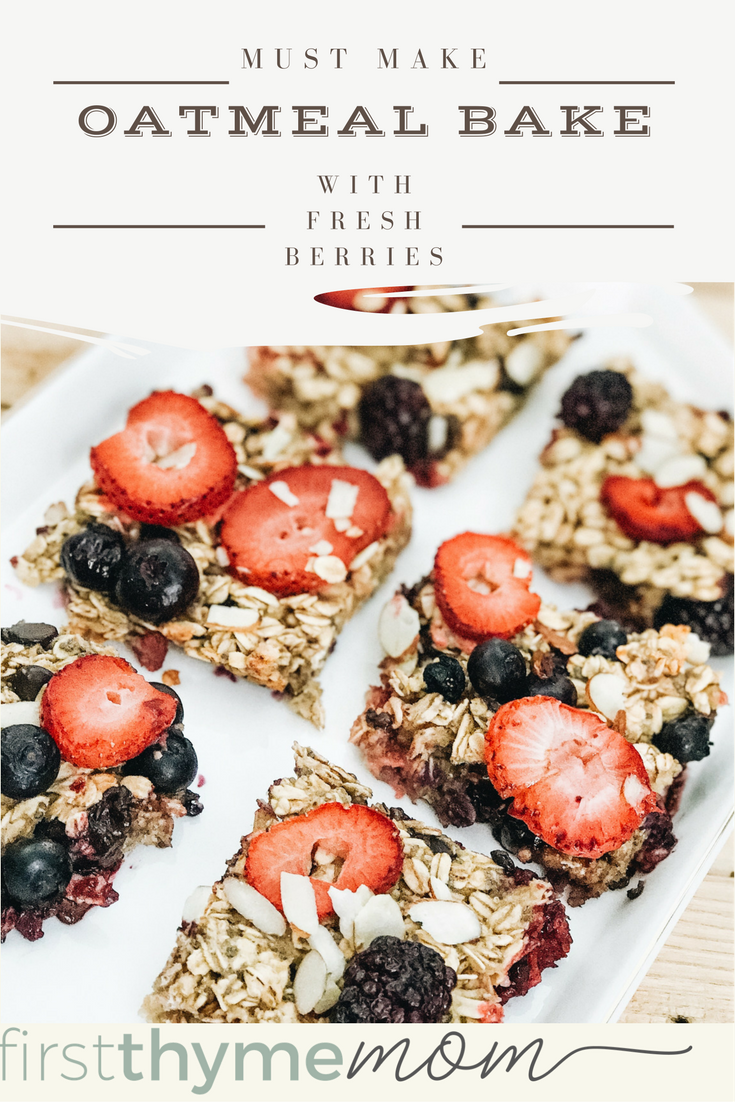 Must Make Oatmeal Bake With Fresh Berries. Made with rolled oats, banana, strawberries, blackberries, and blueberries.