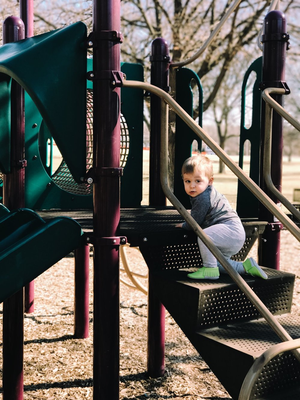 Playing at our local community park