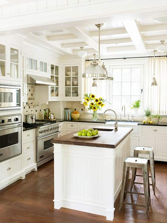 How To Design a Non-White Kitchen in a White Kitchen World. Above image from Design Chic via Better Homes and Gardens