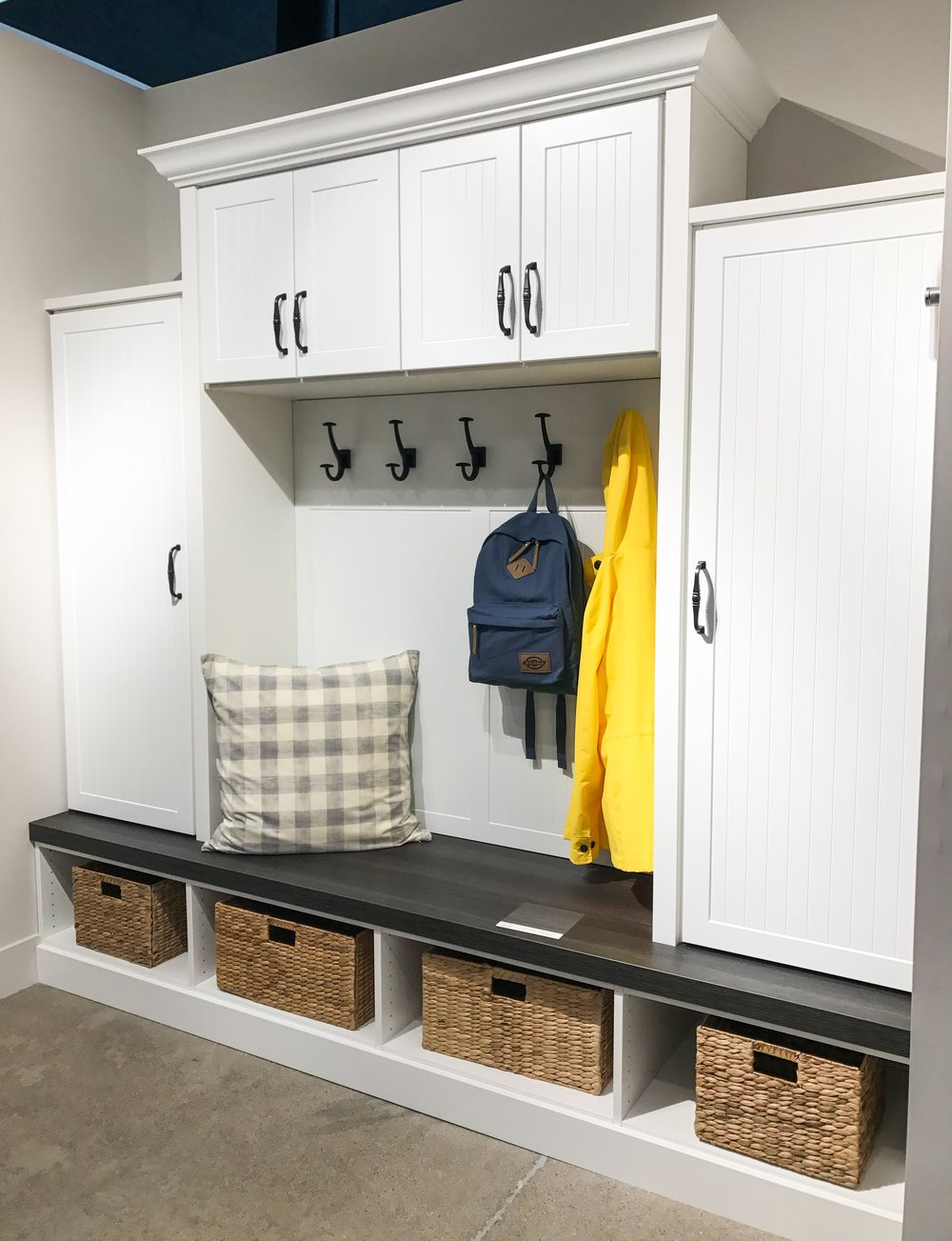 Mudroom Inspiration from Inspired Closets