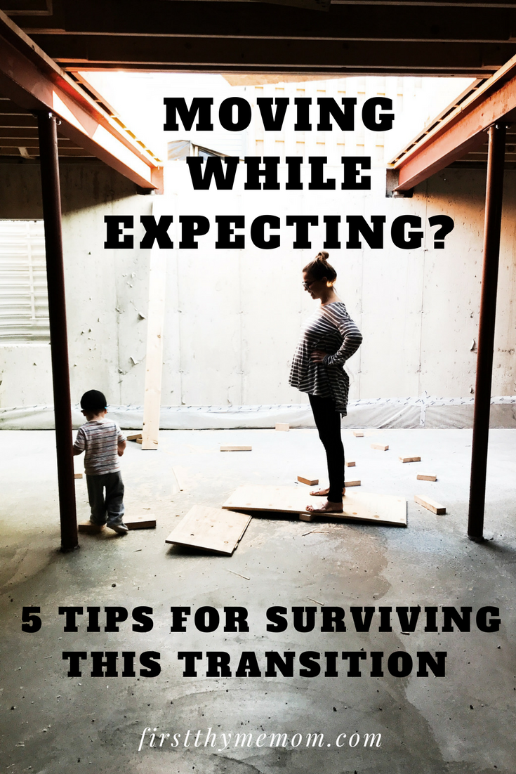 Moving While Pregnant - How To Build a House, Remodel, or Move While Building Your Family - 5 Tips For Surviving This Transition