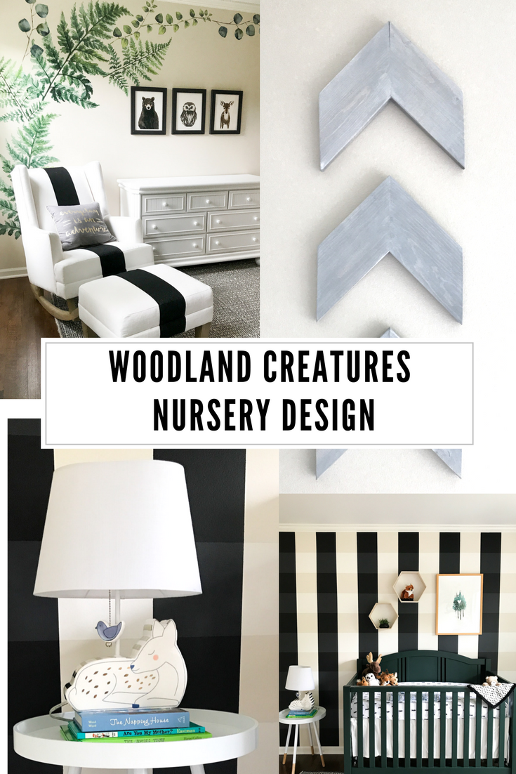 Woodland Creatures Nursery Decor For Baby Boy Or Girl. Buffalo Plaid Nursery  Wall Paint.