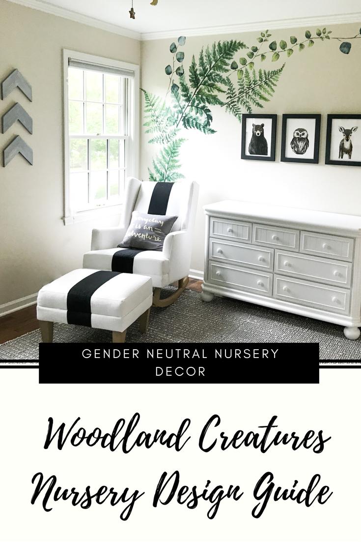 Woodland Creatures Nursery Decor For Baby Boy Or Girl