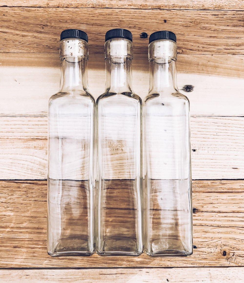 Glass bottles for making your own Vanilla Bean Extract