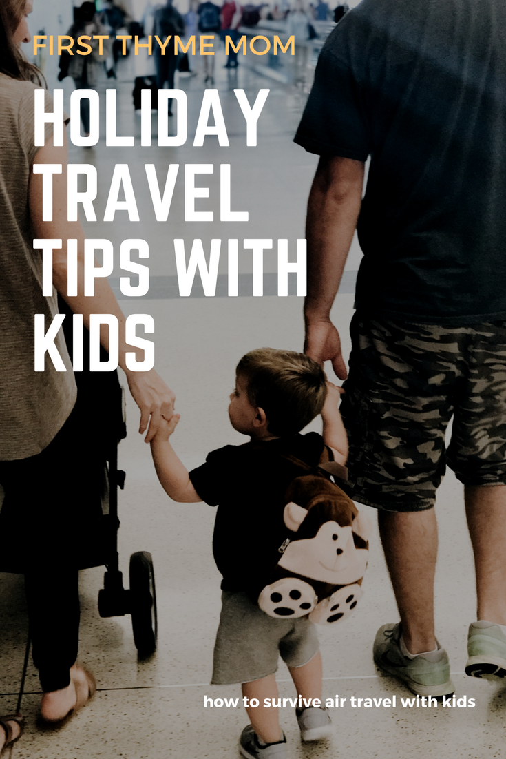 How To Survive Air Travel With Kids During The Holidays - Tips For Keeping Kids Busy While On A Plane.