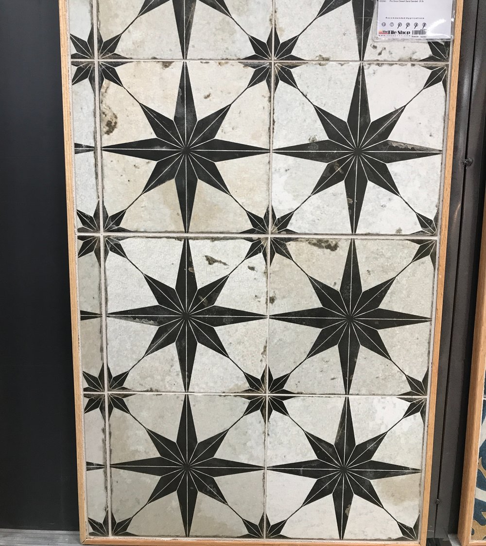 Patterned Tile For a Laundry Room Floor. How to choose laundry room floor tile.