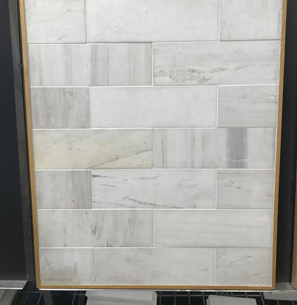 How to select tile for your bathrooms and laundry room first marble shower wall tile dailygadgetfo Gallery