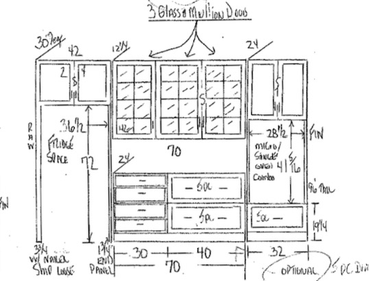 New kitchen cabinet design.