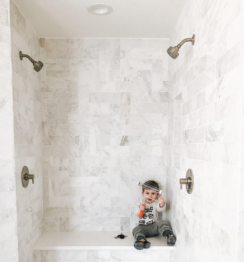 Master bathroom shower design.