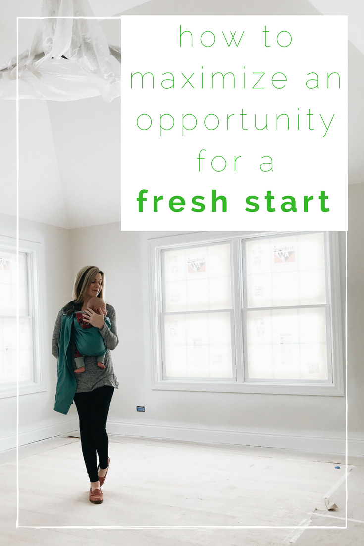 How To Maximize An Opportunity For A Fresh Start