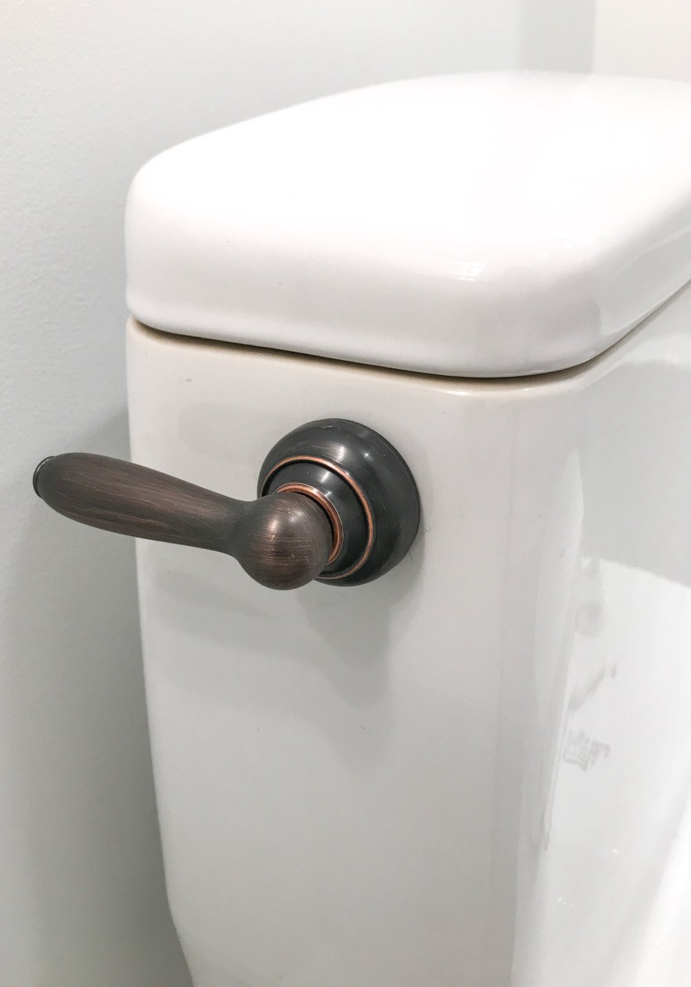 Salvaged Toilets - How To Give Your Toilet a New Look. Fluidmaster Tank Levers. #sponsored