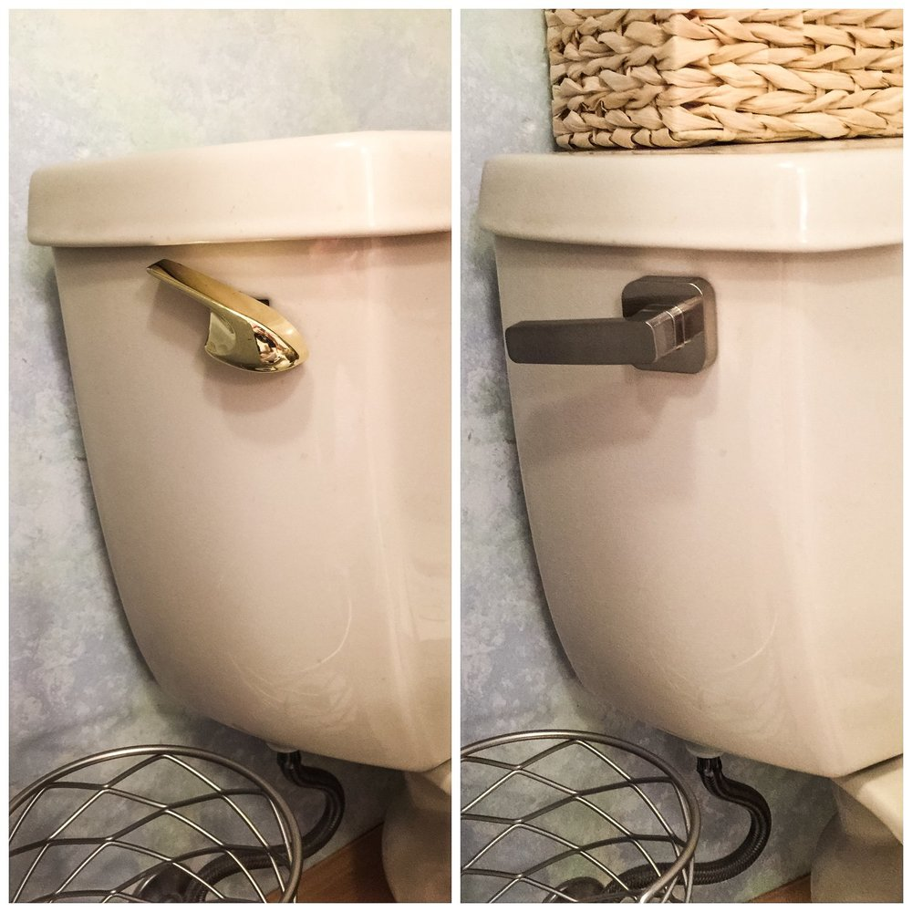 Salvaged Toilets - How To Give Your Toilet a New Look. New toilet levers. #fluidmaster #toiletlever #sponsored