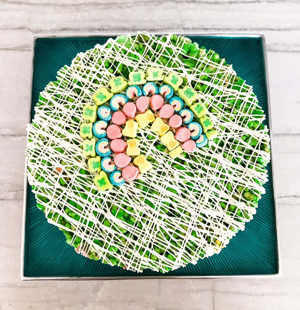 Lucky Charms Green Ombre Cake For St. Patrick's Day