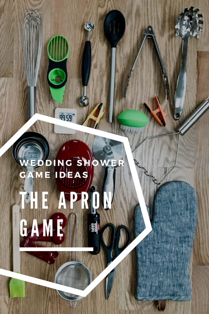The Apron Memory Wedding Shower Game. Best Wedding Shower Game Ideas. Fun Wedding Shower Games. #showergame #showerideas