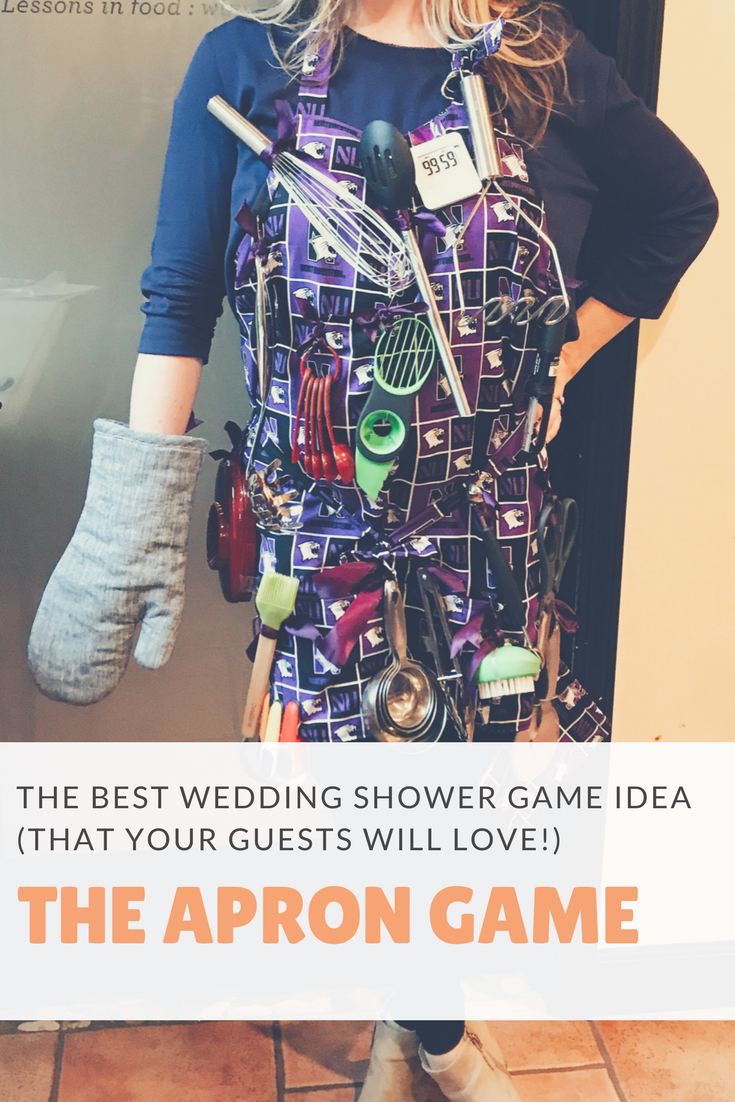 the apron memory wedding shower game best wedding shower game ideas fun wedding shower
