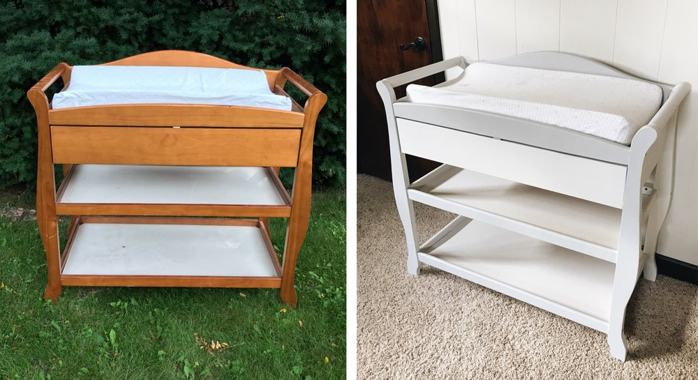 DIY Changing Table Makeover. How To Fix Up A Changing Table.