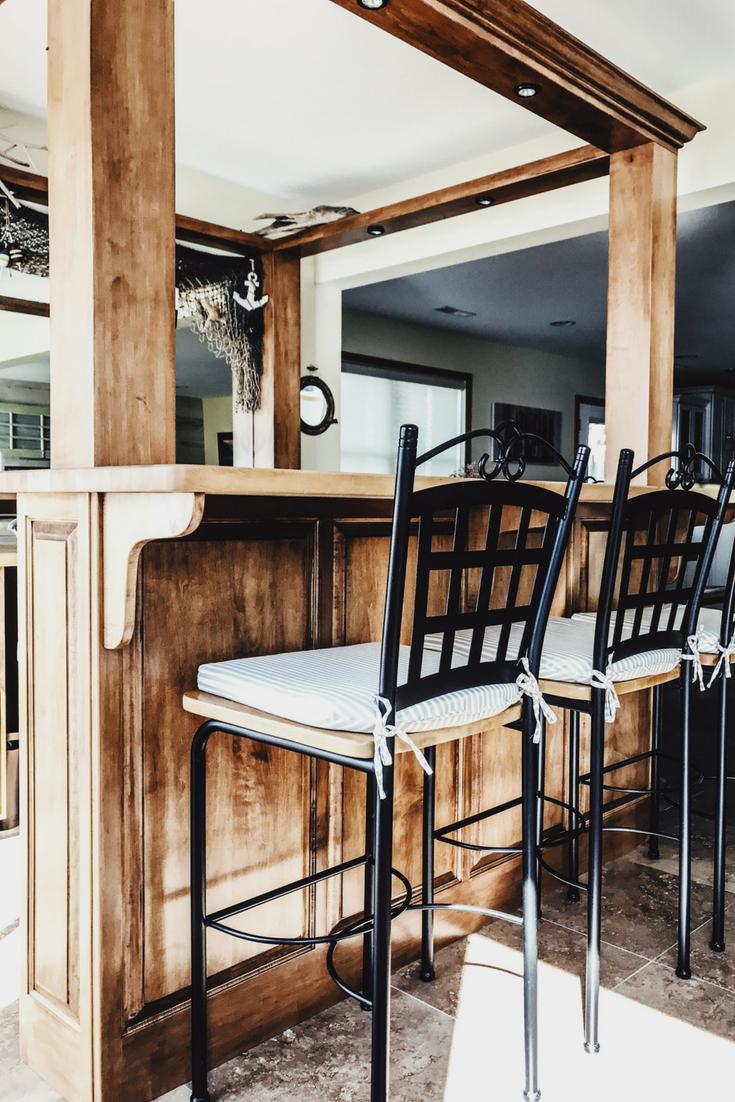 Bar Ideas For Lake House. Lake House Decor Ideas. Bar Decorations For A Lake House. Bar Stools For Lake House. Bar Stool Cushions. Wooden Butcher Block Bar For Lake.