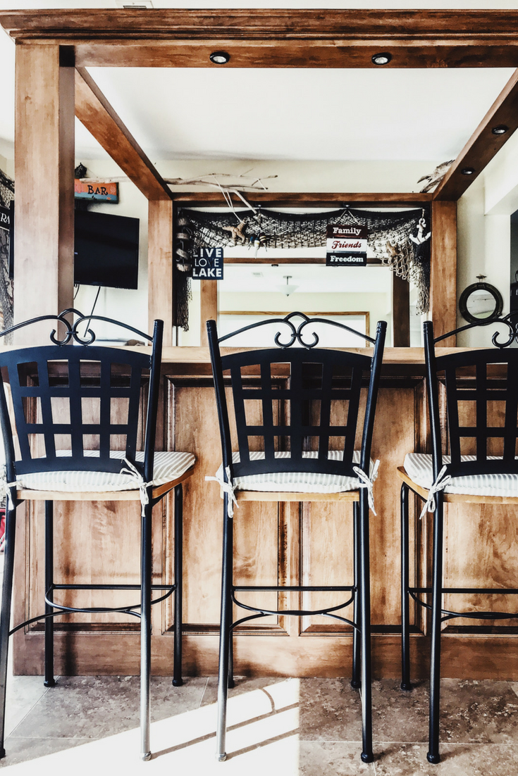 Bar Ideas For Lake House. Lake House Decor Ideas. Bar Decorations For A Lake House. Bar Stools For Lake House. Bar Stool Cushions. Wooden Butcher Block Bar For Lake. Bar Decor.