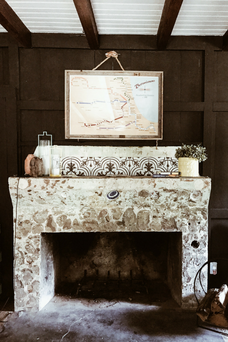 Lake house fireplace decor ideas. Stone fireplace. at lake house.