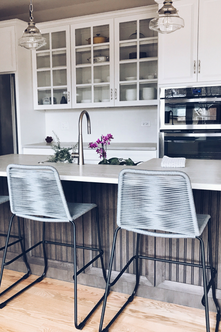The Best Bar And Counter Stools For Your Kitchen Island. Barclay Counter Stool Rope Chair By Modloft. The best bar stools and counter stools for a kitchen island. #sponsored #modloft #barclay #counterstool #ropechair