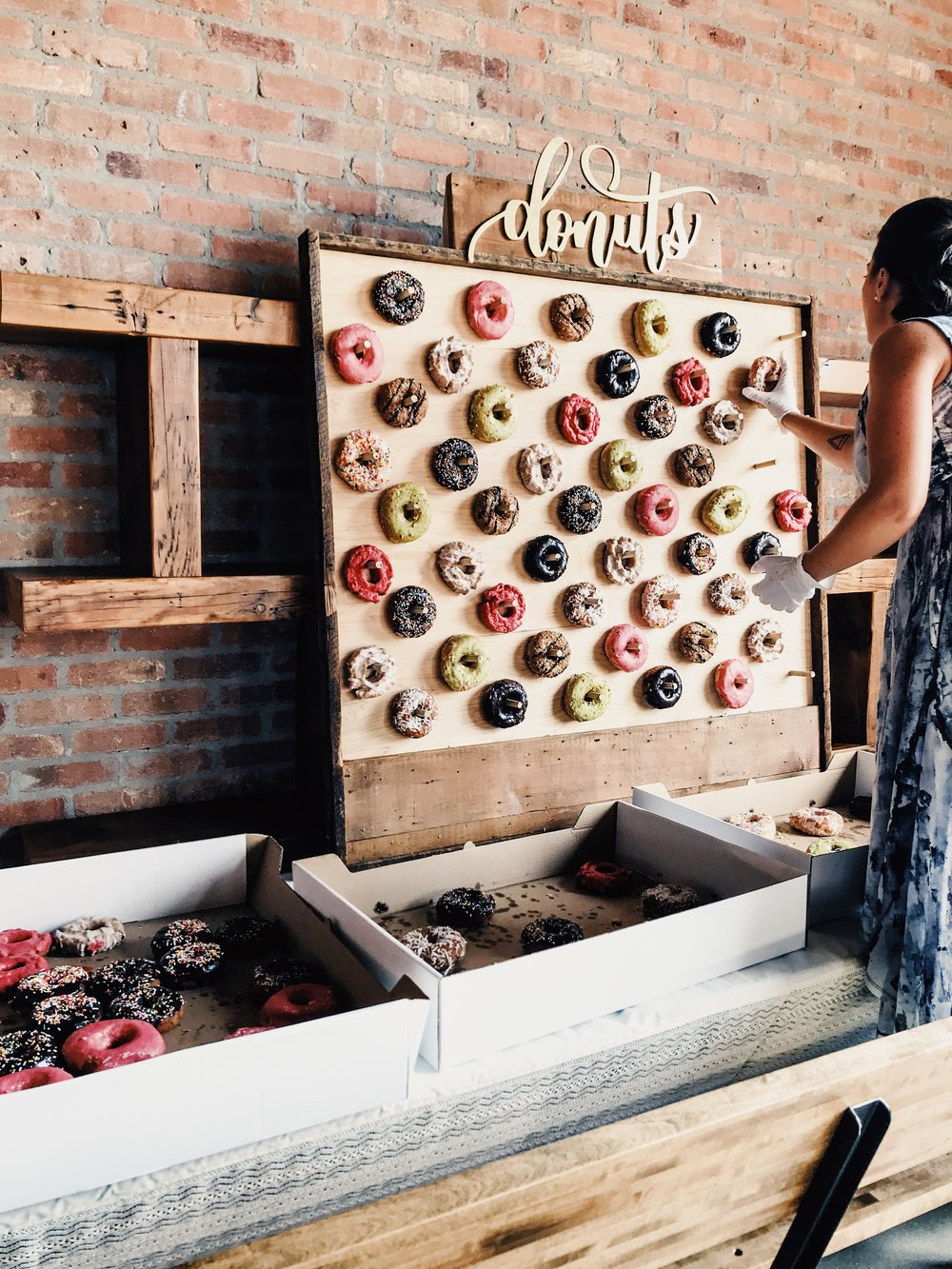 Designing a Donut Wall. DIY Donut Wall Dessert Table For A Wedding Or Shower