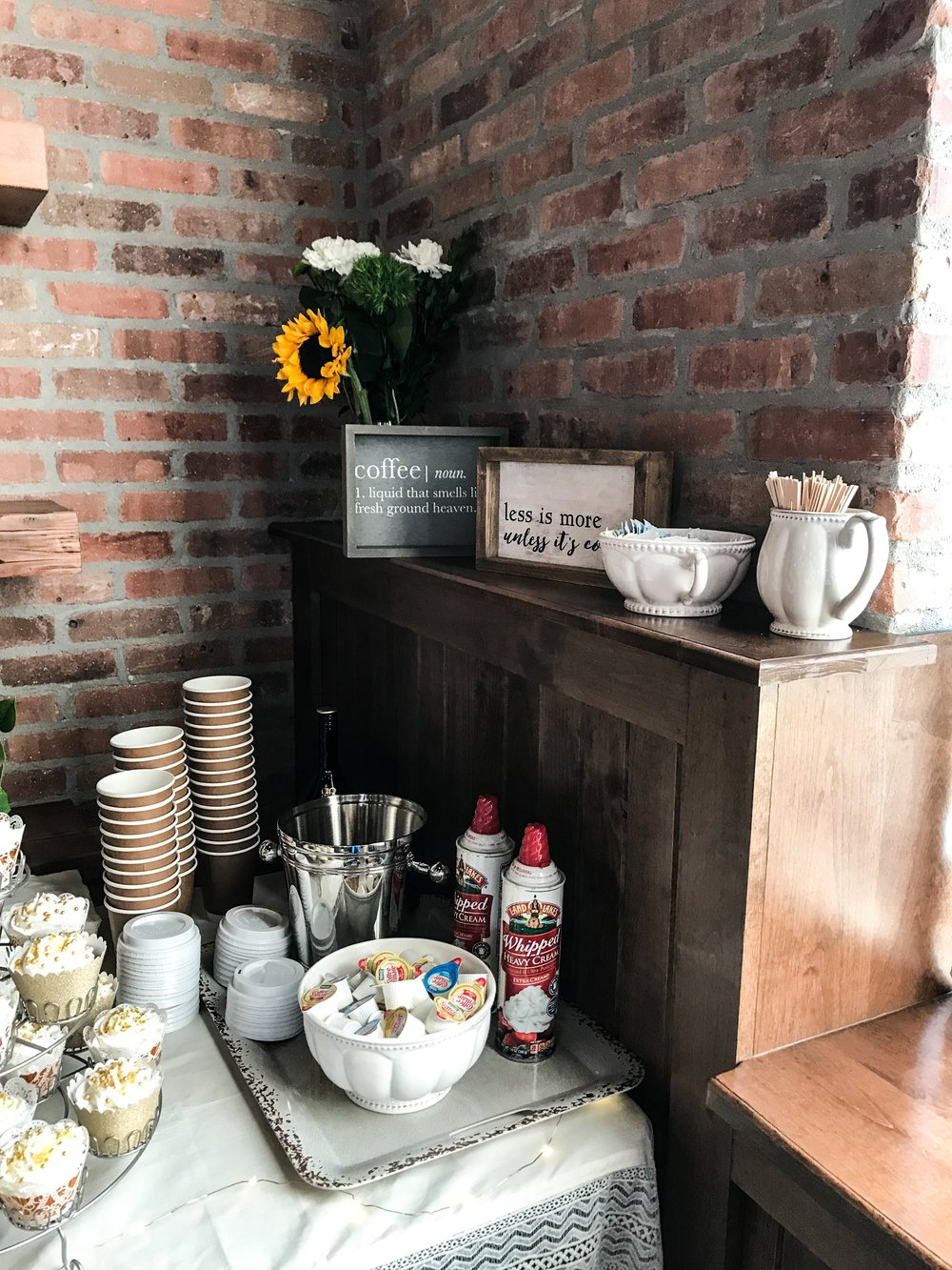 Coffee Bar for a wedding. How to set up a coffee bar.